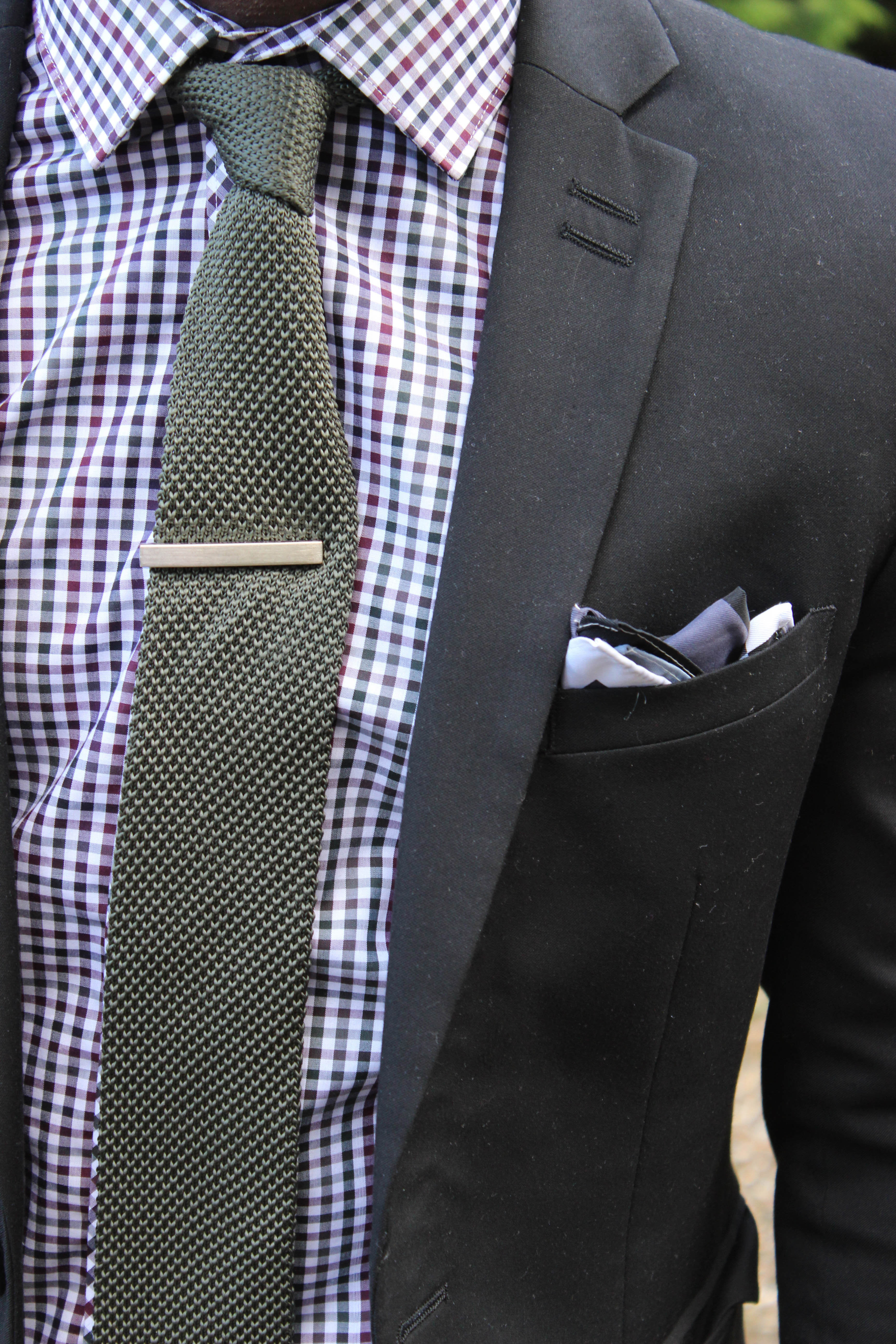 Grey suit checkered shirt dress yy for Navy suit checkered shirt