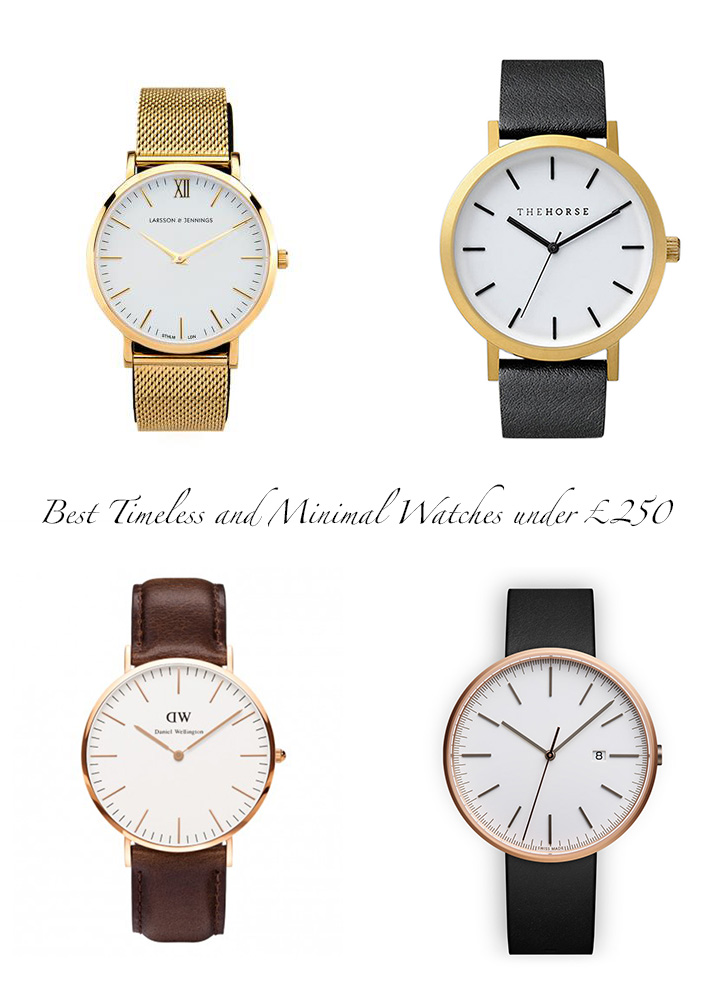 Best Timeless and Minimal Watches under £250