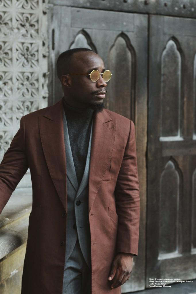linen overcoat